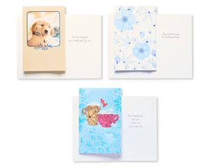 Assorted Love and Friendship Cards and Cream Envelopes, 12-Count