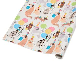 Party Animals Wrapping Paper, 20 Total Sq. Ft.