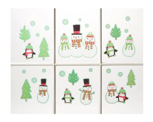 Snowmen and Friends Window Decorations, 30-Count