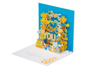 Love You Pop-Up Birthday Card