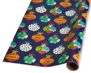 Modern Ornaments Holiday Wrapping Paper