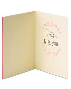 unicorn miss you card
