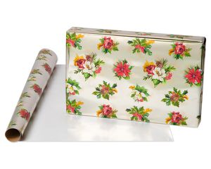 Poinsettia Holiday Wrapping Paper