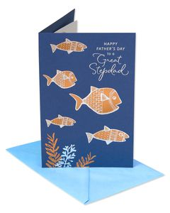Fish Father's Day Card for Stepdad
