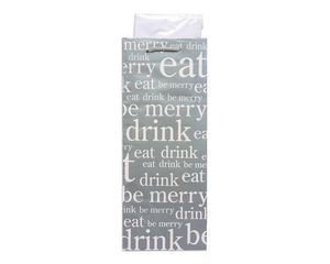 eat, drink and be merry christmas beverage combo gift bag