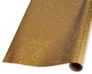 Gold Swirls Holiday Wrapping Paper