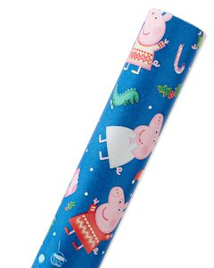 Peppa Pig Christmas Wrapping Paper, 40 Total Sq. Ft.