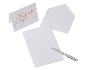 Gold Thank You Cards and Envelopes, 20-Count
