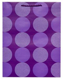 Large Purple Dot Gift Bag
