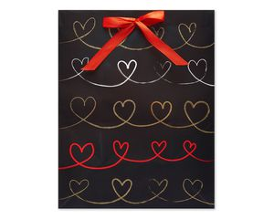 Medium Hearts Scroll Gift Bag