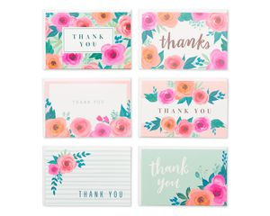 Thank You Greeting Card Bundle with White Envelopes, 48-Count