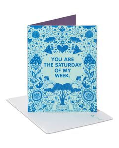 Saturday Thinking of You Card