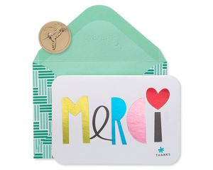 Merci Thank You Boxed Blank Note Cards and Envelopes, 14-Count