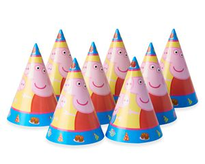 Peppa Pig Party Hats, 8 Count, Party Supplies