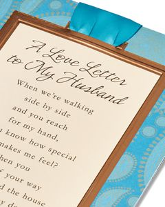 Love Letter Father's Day Card for Husband