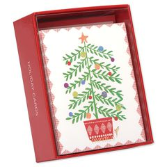 Tree in Pot Holiday Boxed Cards, 20-Count