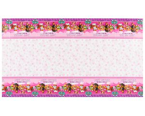 paw patrol pink plastic tablecover 96 in. x 54 in.