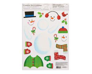 snowman window decorations 22 ct