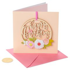 Floral Birthday Greeting Card