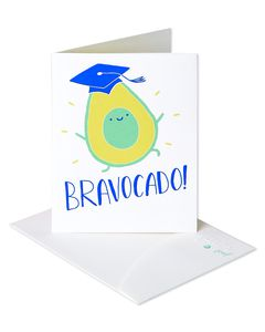 Bravocado Graduation Card