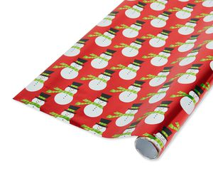 Snowmen Christmas Wrapping Paper, 25 Sq. Ft.