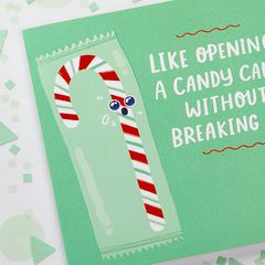 Candy Cane Christmas Greeting Card