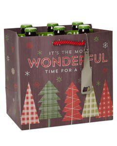 Christmas Wonderful Beer Beverage Gift Bag
