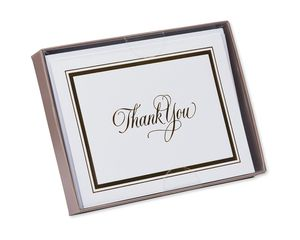 framed in gold thank you notes