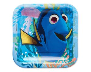 finding dory dessert square plate 8 ct