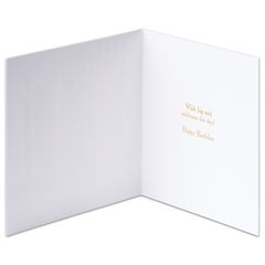 Paper Candles Birthday Greeting Card
