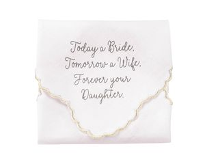 Mud Pie Bride Handkerchief for Mother of the Bride