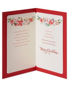 Floral Christmas Card for Wife