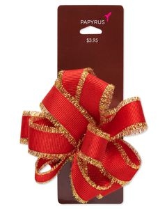 Holiday Red Bow