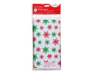 snowflake christmas cello treat bags 18 ct