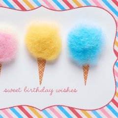 Cotton Candy Birthday Greeting Card