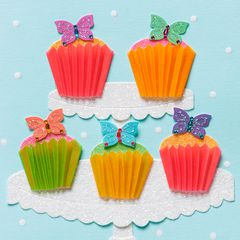 Butterfly Cupcakes Birthday Greeting Card