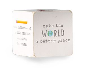 Mud Pie White Teacher Sentiment Block