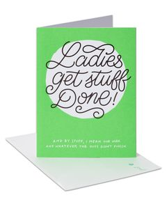 Lady Power Birthday Card