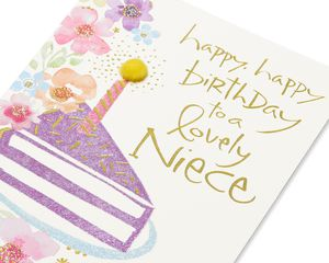 Kathy Davis Cake Birthday Card for Niece