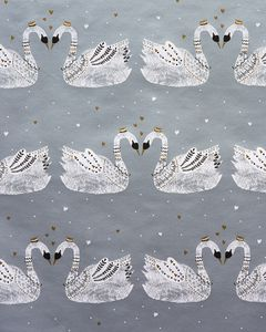 Silver Swan Wrapping Paper, 20 Total Sq. Ft.