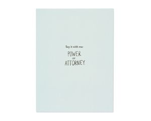 power of attorney mother's day card