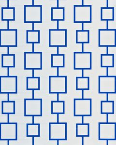 Reversible Wrapping Paper, Blue and Squares