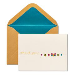 Butterfly Gems Thank You Greeting Card