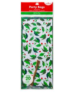 Holly Treat Bags, 20-Count