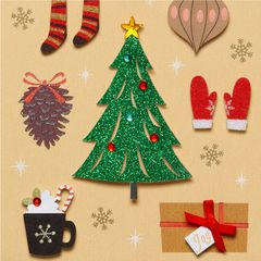 Christmas Icons Christmas Greeting Card