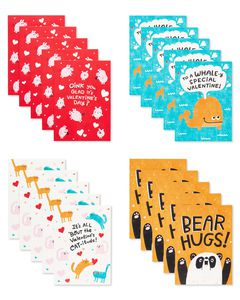 Fur Real Valentines Lunch Box Mini Notes, 40-Count