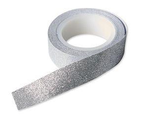 Silver Glitter Tape