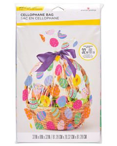 Easter Basket Cellophane Bag, 2-Count