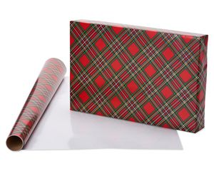Holiday Chic and Santa's Best Friends Dog Print Christmas Wrapping Paper, 2-Roll