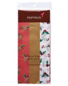 Poinsettia Holiday Tissue Paper Bundle